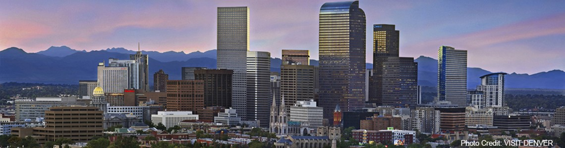 Denver Skyline 1140 x 317 with photo credit to VISIT DENVER